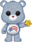America Cares Bear (Glitter) (Funko Shop Europe) Vinyl Figure 638