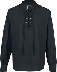 Lace-Up Shirt With Buckle