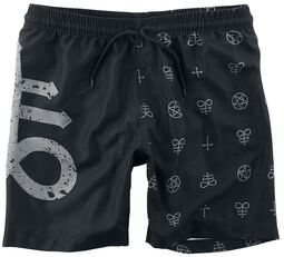Swim Shorts with Gothicana Symbols