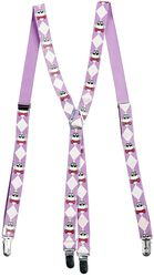 Suspenders with White Skulls