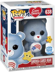 America Cares Bear (Glitter) (Funko Shop Europe) Vinyl Figure 638