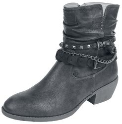 Black Boots with Star Adornment