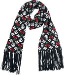 Scarf With Cherries and Skulls