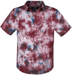 Short-Sleeve Shirt with Colourful Batik Pattern
