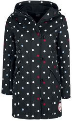 White Dots Softshell Girl Jacket black
