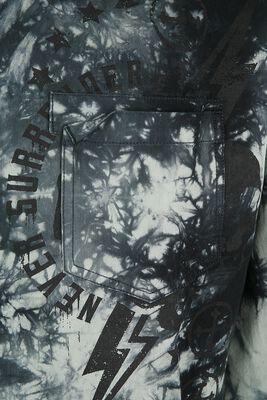 Olive Shirt with Batik Wash