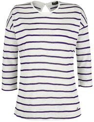 Ladies 3/4 Sleeve Striped Shirt