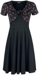 Short Black Dress with Subtle Skull Print