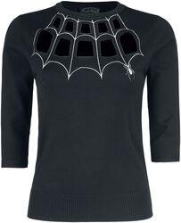 Morticia Spider Web Sweater