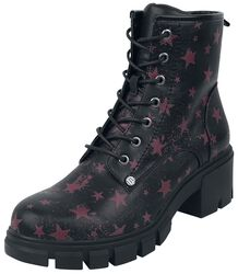 Black Boots with Star Pattern