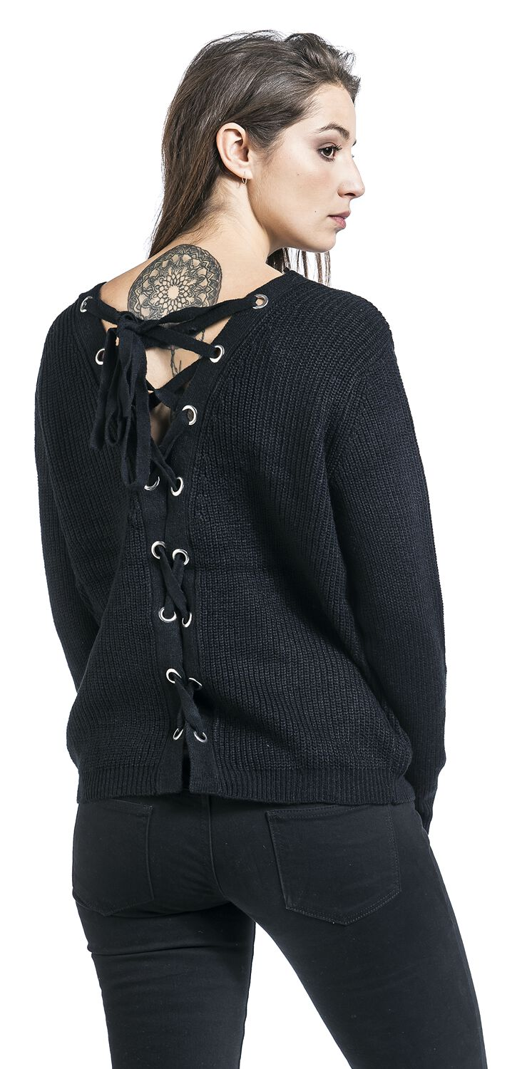 f96fdc3435 Ladies Back Lace Up Sweater