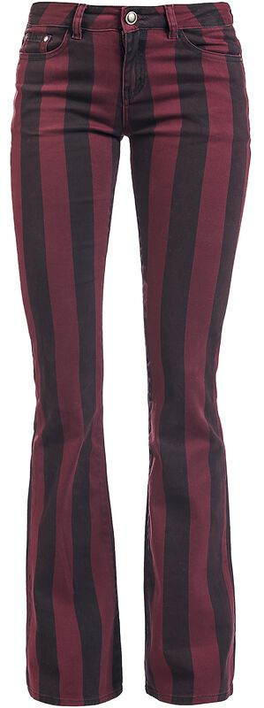 Grace - Black/Red Striped Trousers