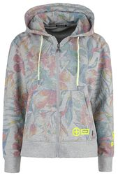 RED X CHIEMSEE - grey hoodie with colourful print