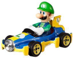 Mario Kart Hot Wheels Diecast Model Car 1/64 - Luigi (Mach 8)