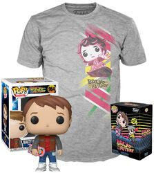 Marty with Hoverboard - T-Shirt plus Funko - POP! & Tee
