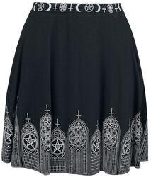 Black Skirt with Print