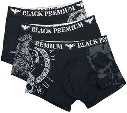Black/Grey Underpants Set with Various Designs