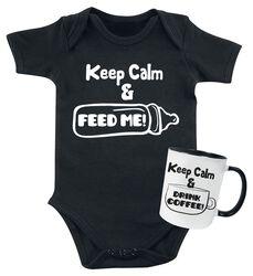 Keep Calm Baby Romper + Mug