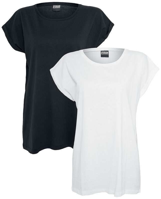 Ladies Extended Shoulder Tee Double Pack