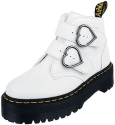 Devon Heart White Aunt Sally 2 Strap Boot