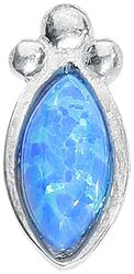 Push-fit Labret Silver Blue Bindi Opal