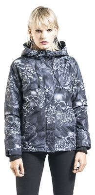 Black Jacket with All-Over Print