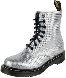 1460 Pascal Silver Stud Emboss Leather 8 Eye Boot