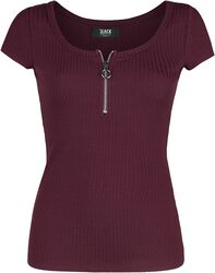 Ribbed Red T-shirt