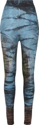 Ladies Cotton Tie Dye High Waist Leggings