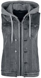Grey Vest with Hoodie Insert