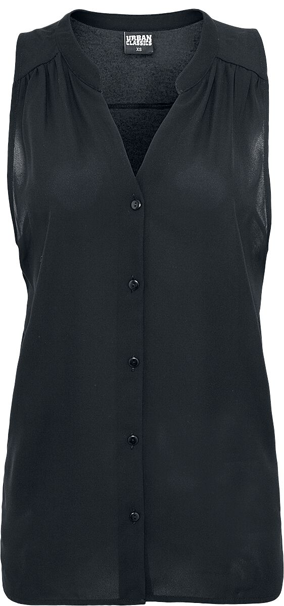 ceb8c2addb2718 Ladies Sleeveless Chiffon Blouse | Urban Classics Blouse | EMP