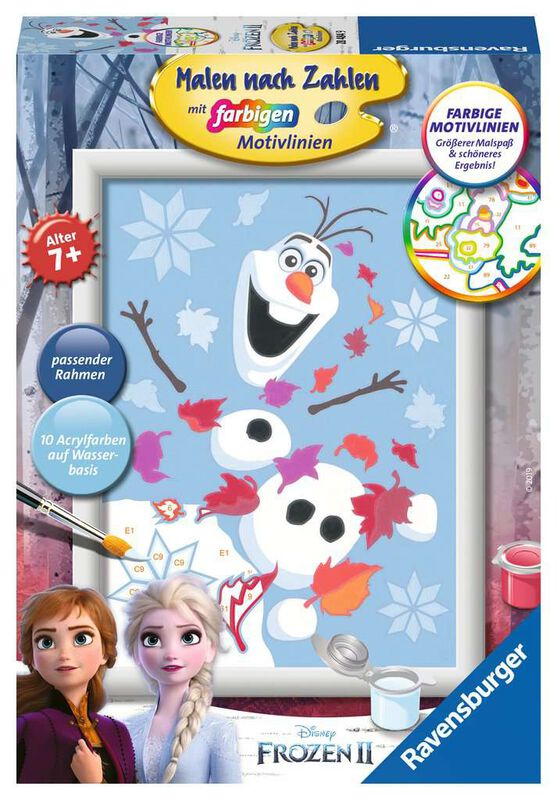 2- Happy Olaf - Paint By Numbers