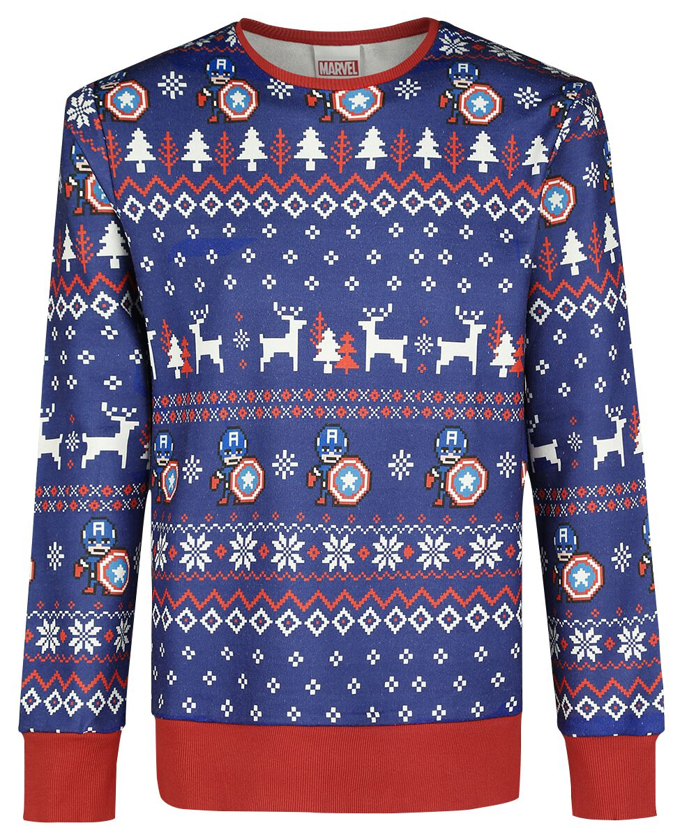 christmas sweater captain america christmas jumper emp