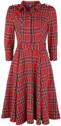 Evie Red Tartan Swing Dress