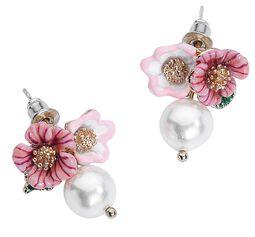 Cute Flower Pearl Earstuds