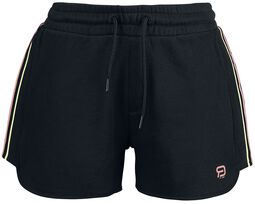 RED X CHIEMSEE - schwarze Shorts mit Logoprint
