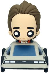 Marty McFly in Delorean (Pokis Figure)