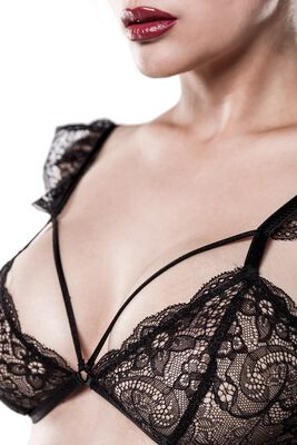 2-Part Bra Set Made From Lace