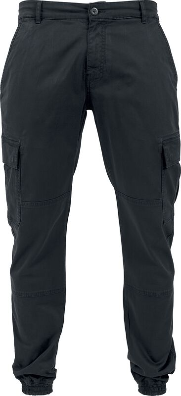 Washed Cargo Twill Jogging Bottoms