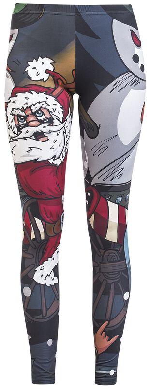 Leggings with Christmas Print