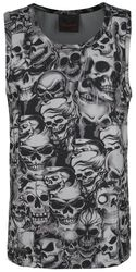 Grey Top with Skull