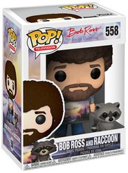 The Joy of Painting - Bob Ross and Raccoon (Chase Edition Possible) Vinyl Figure 558