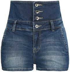 High Waist Denim Hot Pants