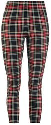 Red/Black Checked Jeggings