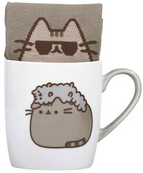 Pusheen and Stormy - Mug with Socks