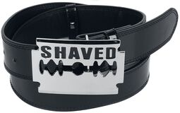 Belt with 'Shaved' Buckle