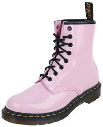 1460 W Pale Pink Patent Lamper 8 Eye Boot