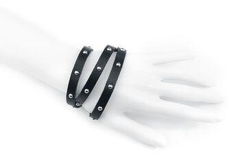 Leather & Studs Wrap Bracelet