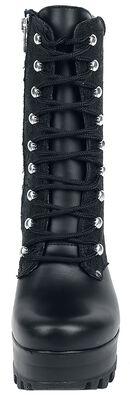Black Grain Leather Baroque Boot
