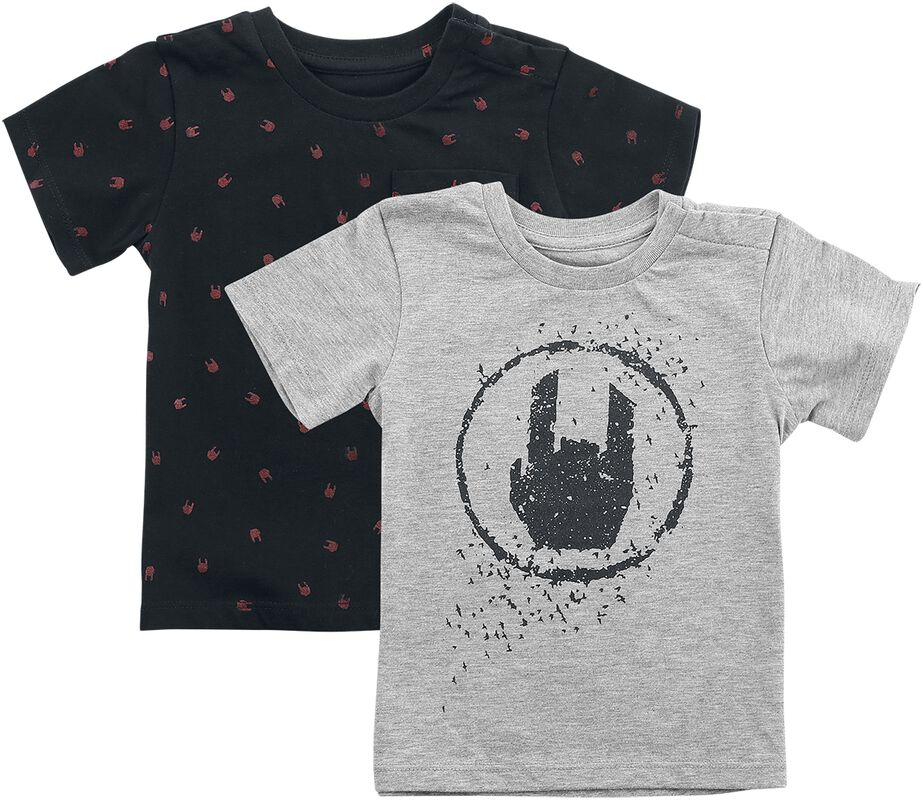 Black/Grey T-shirts Double Pack